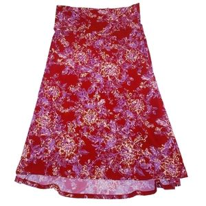 #1159 Lularoe Circle Skirt Jill Floral Large Midi